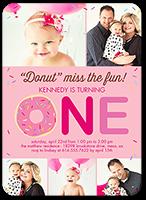 donut miss girl birthday invitation 5x7 flat