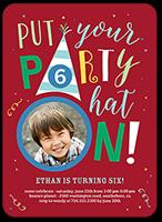 party hat boy birthday invitation 5x7 flat