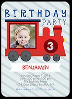 celebration train birthday invitation 5x7 flat