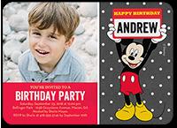 disney mickey mouse name birthday invitation 5x7 flat