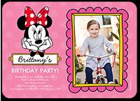 disney minnie mouse dots birthday invitation 5x7 flat