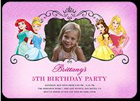 disney princess celebration birthday invitation 5x7 flat