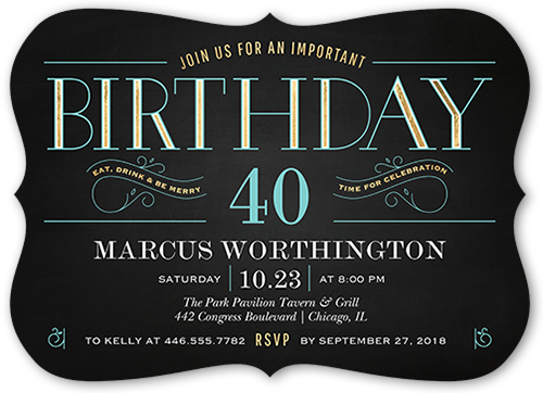 Bold Celebration Birthday Invitation