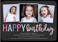 happy frames girl birthday invitation 5x7 flat