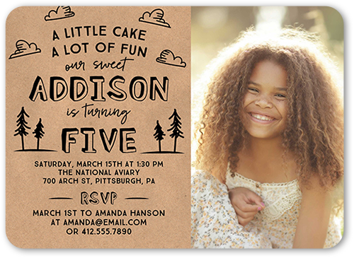Cake And Fun Birthday Invitation, Rounded Corners