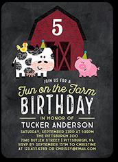 farm festivities birthday invitation 5x7 flat