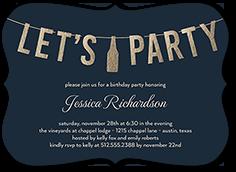 chic letter celebration birthday invitation 5x7 flat