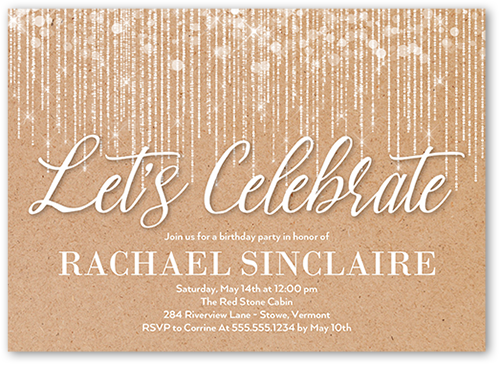Cascading Lights Birthday Invitation