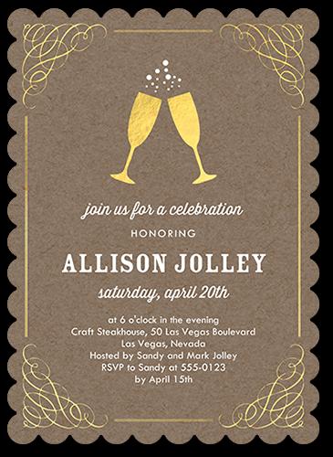 Delighted Celebration Birthday Invitation