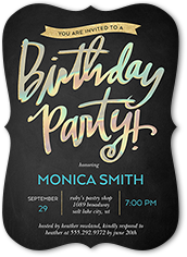 Iridescent Celebration Birthday Invitation 5x7 Flat