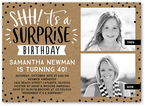 Dotted Surprise Birthday Invitation