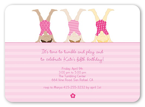 Tumble Time Birthday Invitation