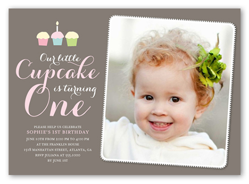 Our Little Cupcake 5x7 Invitation Card – Images of Birthday Invitations