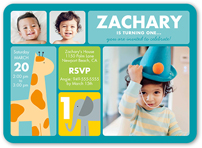 Baby Boys St Birthday Invitations Shutterfly - Birthday invitation for baby