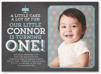 First Birthday Invitations St Birthday Invites For Boys - Birthday invitation for one year baby