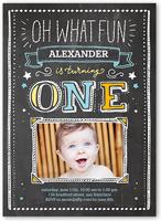 1 photo 5x7 baby boy 1st birthday invitations birthday invites oh what fun boy birthday invitation stopboris Images