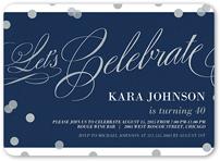 confetti sparkle birthday invitation 5x7 flat