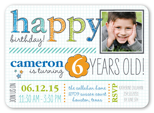 Handwritten Happy Teenage Birthday Party Invitations