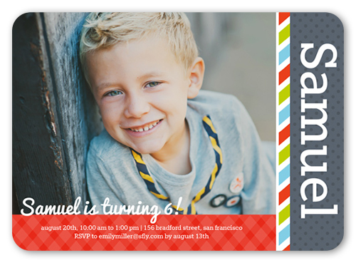Officially Growing Boy Birthday Invitation, Rounded Corners