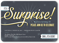 its a surprise birthday invitation 5x7 flat