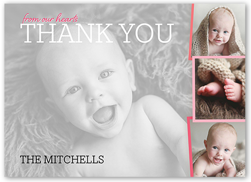 Whimsical Introduction Girl Thank You Card