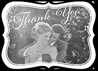 beautifully framed thank you card 5x7 flat