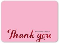glistening thanks thank you card 5x7 flat