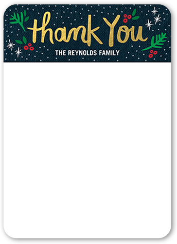 Sparkling Star Thanks Thank You Card, Rounded Corners
