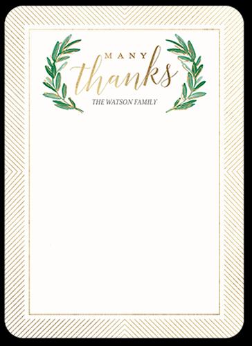 Festive Laurels Thank You Card
