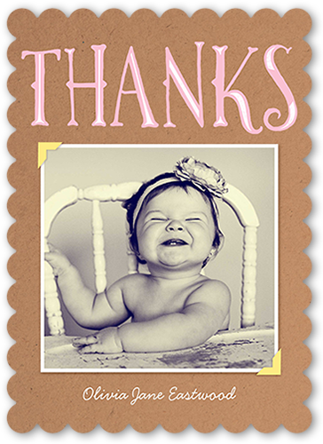 Big Thanks Frame Thank You Card