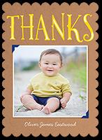 big thanks frame thank you card 5x7 flat