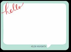 bubble hello thank you card 5x7 flat