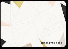 geometric elegance thank you card 5x7 flat