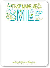 floral smile thank you card 5x7 flat