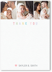 adorable welcome thank you card 5x7 flat