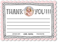 framed gratitude thank you card 5x7 flat