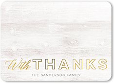 shimmering wooden gratitude thank you card 5x7 flat