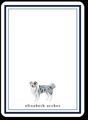 aussie dog love thank you card