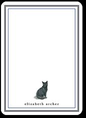 black cat love thank you card