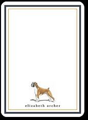 boxer dog love thank you card