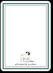 pug dog love thank you card