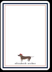 wiener dog love thank you card