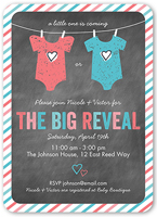 which onesie reveal baby shower invitation 5x7 flat