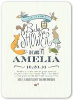 woodsy shower baby shower invitation 5x7 flat