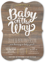 baby on the way baby shower invitation 5x7 flat