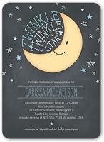 twinkle twinkle boy baby shower invitation 5x7 flat