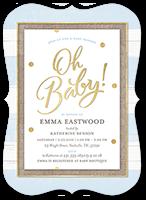 oh newborn boy baby shower invitation 5x7 flat