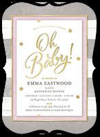oh newborn girl baby shower invitation 5x7 flat