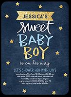starry sweet boy baby shower invitation 5x7 flat