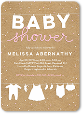 Baby shower invitations custom baby shower invites shutterfly cute linens girl baby shower invitation filmwisefo